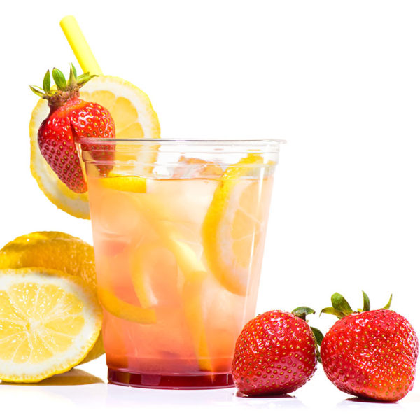 Farm fresh lemonade squeezed on site from our u-pick strawberries!